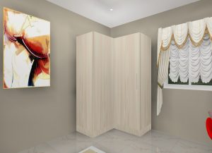 Best L shape Wardrobe Design by Ideas Kitchens in Delhi India