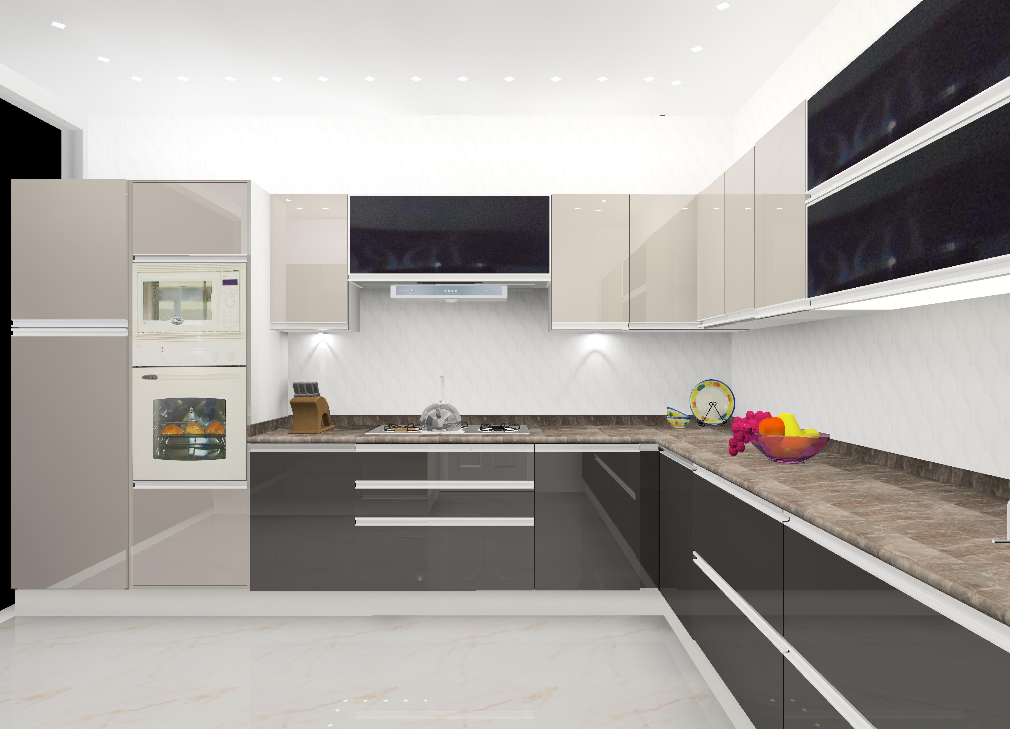 GF B-SIDE 1 - Gwalior Modular Kitchen Design by Ideas Kitchens