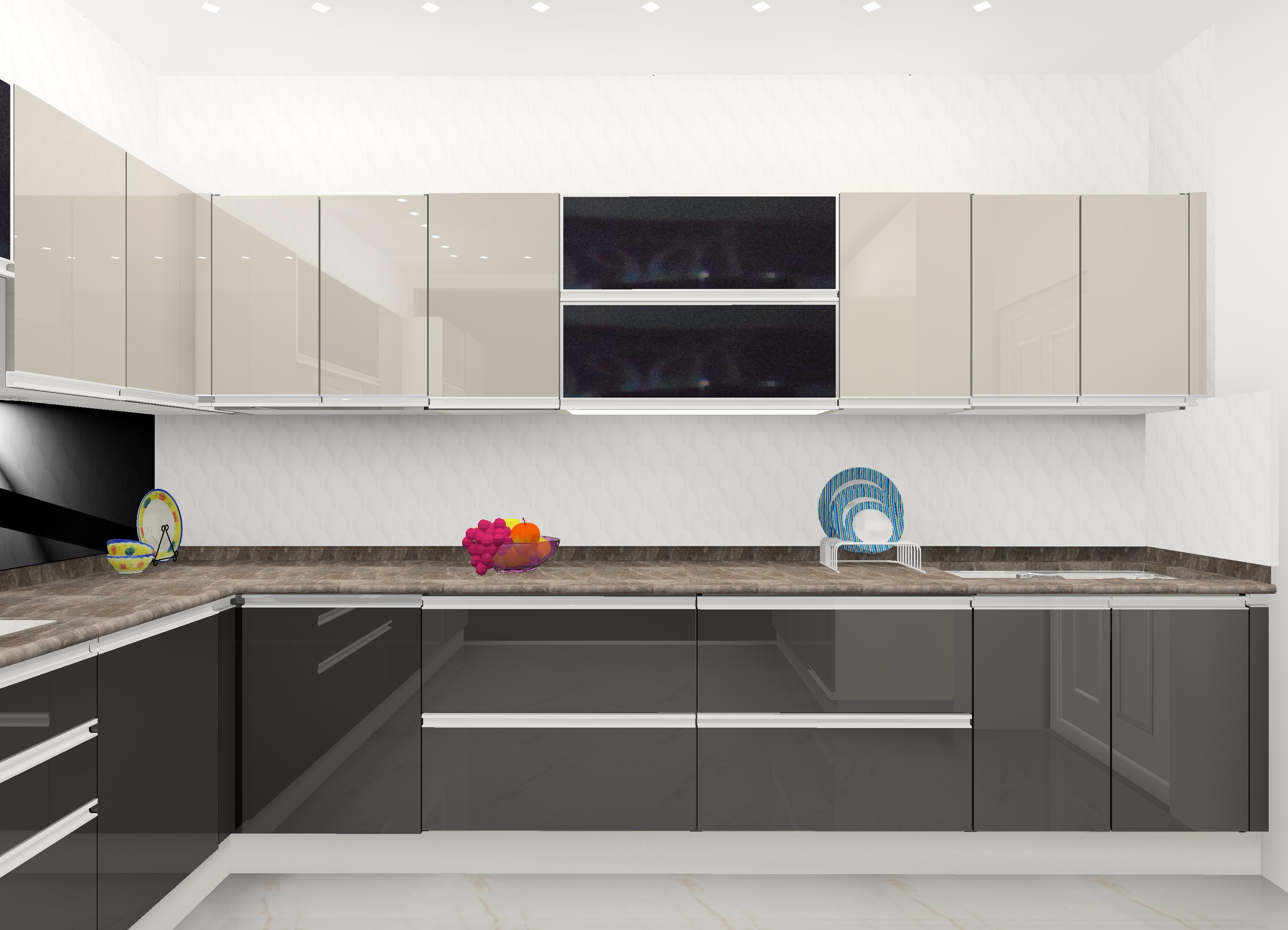 GF B-SIDE 3 - Gwalior Modular Kitchen Design by Ideas Kitchens