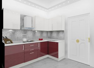 L-Shaped-Modular-Kitchen-Design-by-Ideas-Kitchens in Delhi India