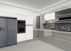 L-Shaped-Modular-Kitchen-Design-by-Ideas-Kitchens in Delhi India