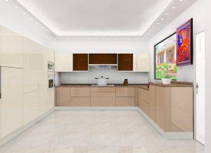 P Madan - Gwalior Outstation Modular Kitchen Design